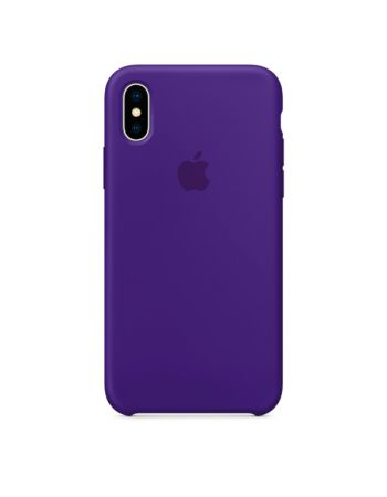 Чехол для iPhone Apple iPhone X Silicone Case Ultra Violet